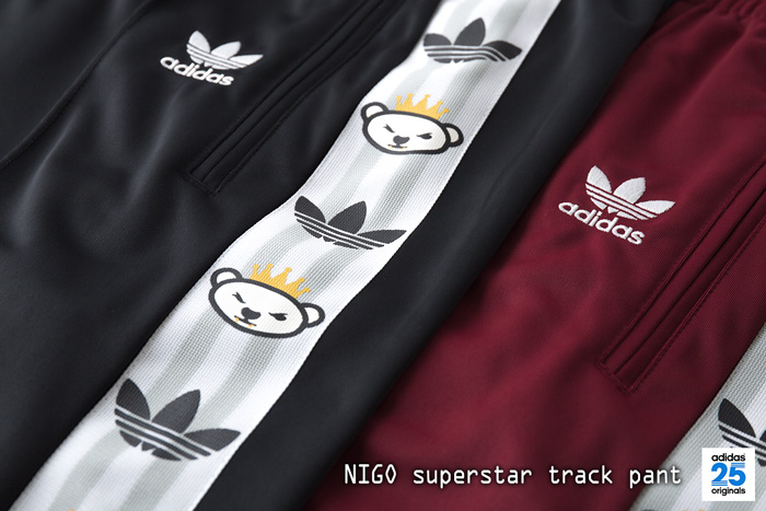 [아디다스 オリジナルス by NIGO] 슈퍼스타 트랙 팬츠 adidas Originals by NIGO SUPERSTAR TRACKPANT MHU76 저지 바닥