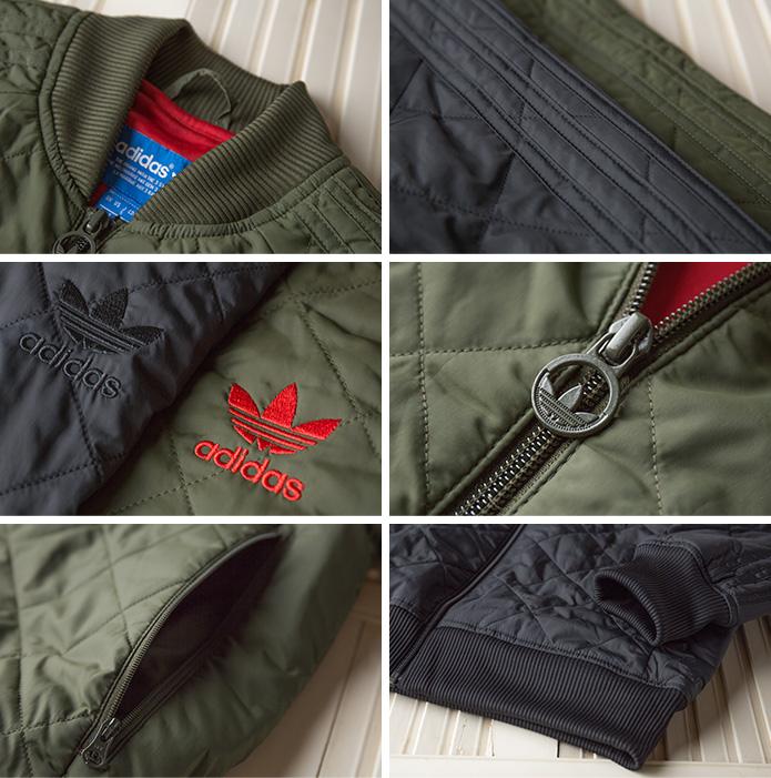 [아디다스 オリジナルス] 퀼트 슈퍼스타 컴뱃 자 켓 adidas Originals QUILTED SUPERSTAR COMBAT JACKET MHV81 퀼트 블루 존