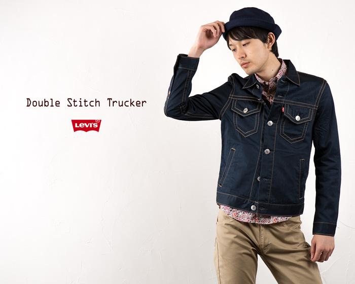 [李维斯茄克]双针脚卡车司机茄克[中间靛蓝]Levi's DOUBLE STITCH TRUCKER JACKET TYPE3 YH