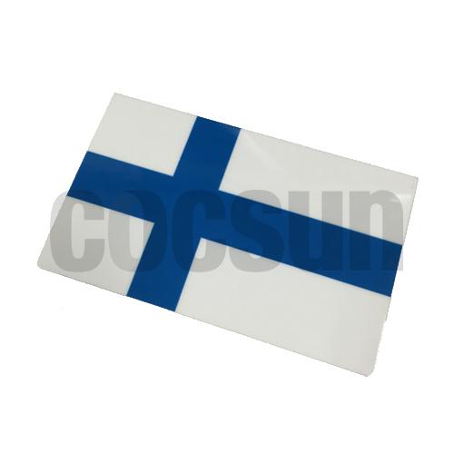 ボルボ VOLVO アクセサリー ステッカー ついに入荷 価格 交渉 送料無料 北欧フィンランド国旗ステッカー 9×5.5cm パーツ デカール