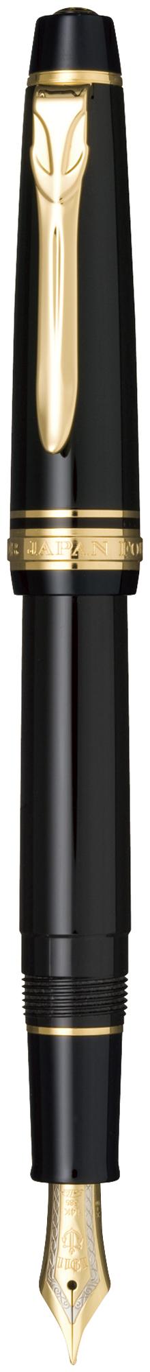 セーラー万年筆 プロフェッショナルギアΣ スリム 金 ブラック 太字 11-1517-620 プロギア シグマ チェック サイン 大き目の文字 太文字 細い 大人 クリップ 14金バイカラー 中型 24金メッキ