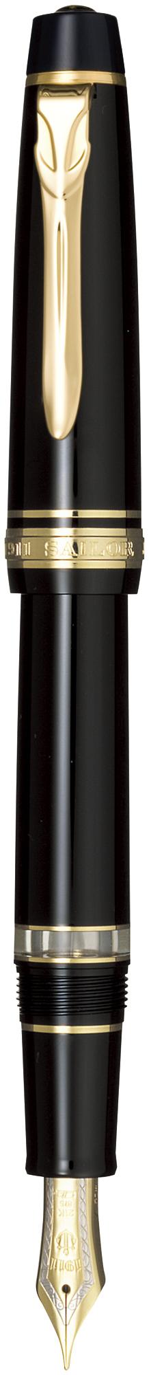 セーラー万年筆 プロフェッショナルギアΣ レアロ ブラック 太字 11-3527-620 プロギア シグマ チェック サイン 大き目の文字 太文字 尾栓回転吸入式 大人 クリップ 21金バイカラー 大型 24金メッキ ギフト 贈り物