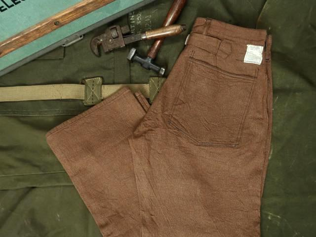 BUZZ RICKSON'S WWI BROWN DENIM ARMY TROUSERS [BR41901] / バズリクソンズ ブラウンデニムアーミートラウザース