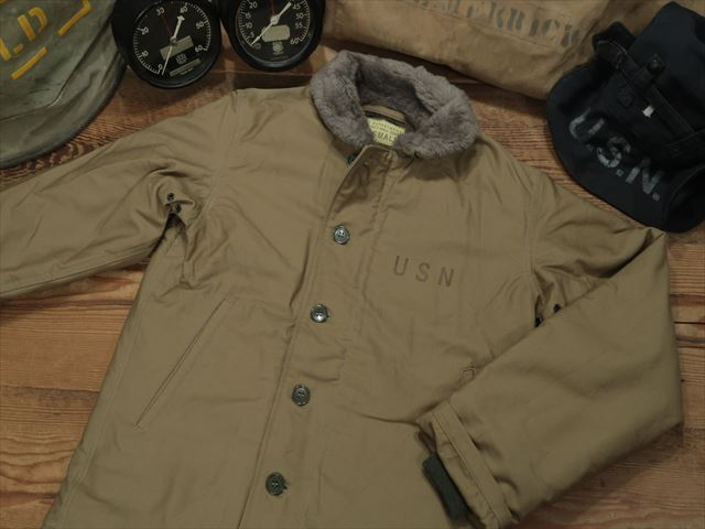 "BUZZ RICKSON'S N-1 DECK JACKET ""NAVY DEPARTMENT 40's MODEL""[KHAKI][BR12031] / バズリクソンズ N-1デッキジャケット"