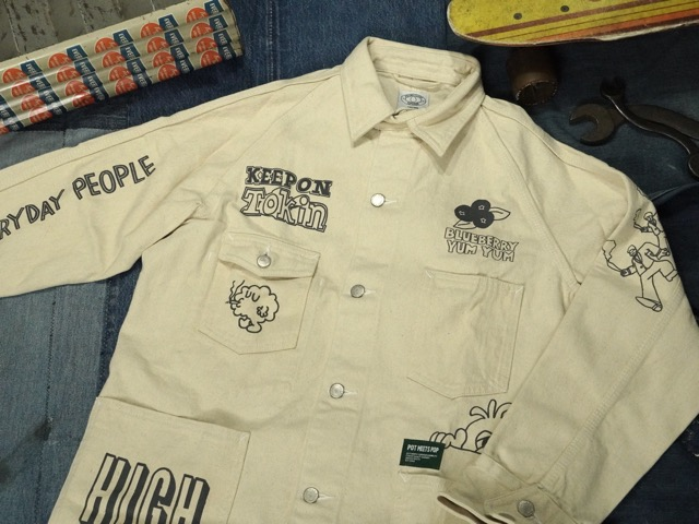 POT MEETS POP CRYPT COVERALL JACKET / ポット ミート ポット クリプト カバーオール ジャケット
