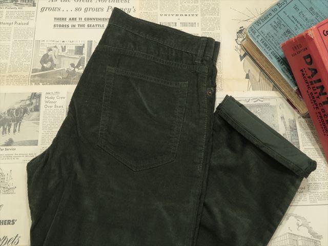J CREW STRAIGHT-FIT FLEX CORD PANTS [DARK MOSS] / ジェイクルー ストレイト フィット リラックス コーディロイ パンツ