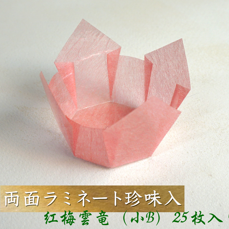 和紙模様の豪華珍味入れ お弁当箱などに 日本最大級の品揃え 珍味入れ おかずカップ 25枚入 赤 紅梅雲竜 5%OFF 小Bサイズ おせち用 お弁当箱 箱 収納ボックス ランチボックス 木製 紙製 重箱用 天然