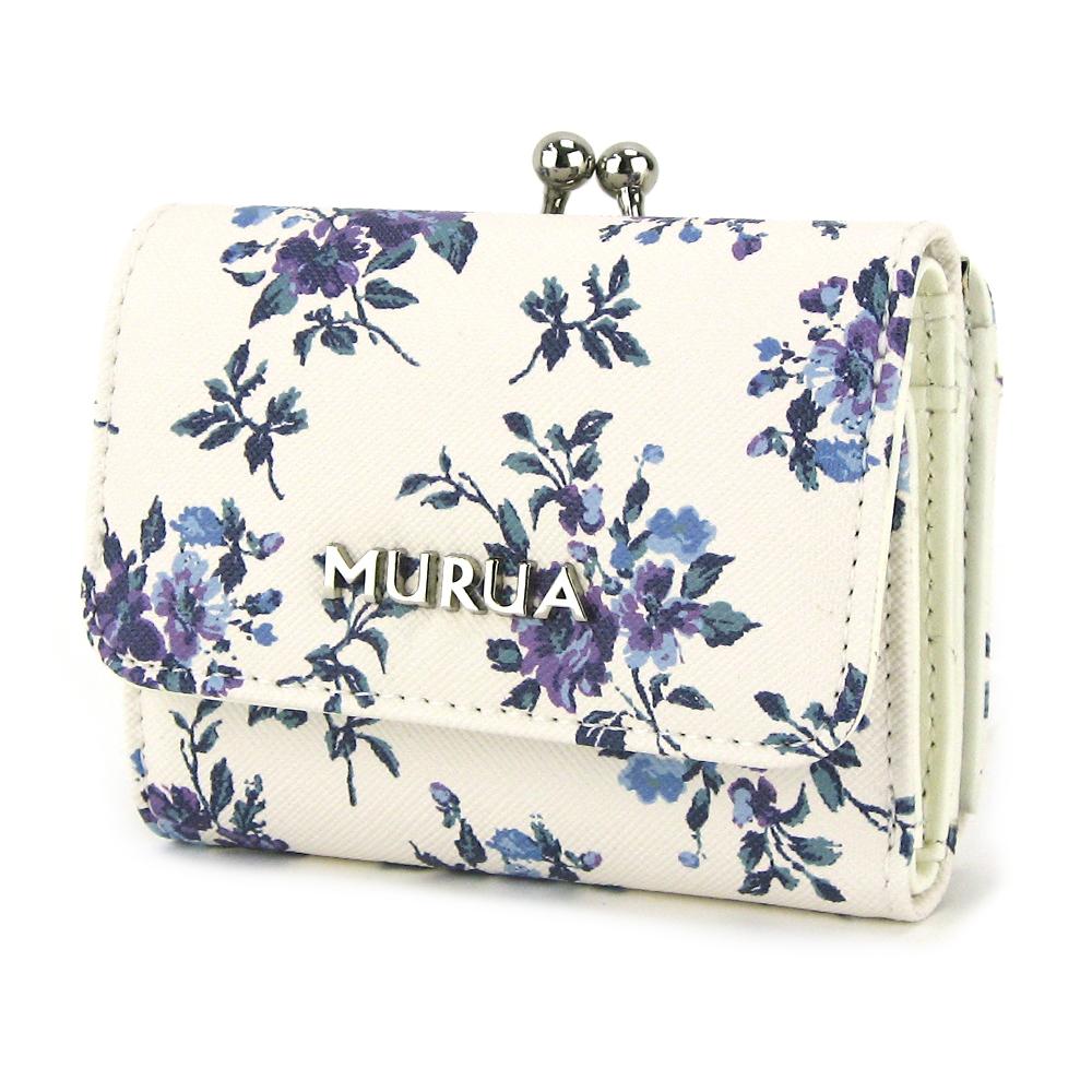 MURUA (ムルーア) 口金ミニ財布 フラワー MR-W722 ムルーア MURUA レディース 財布 ブランド