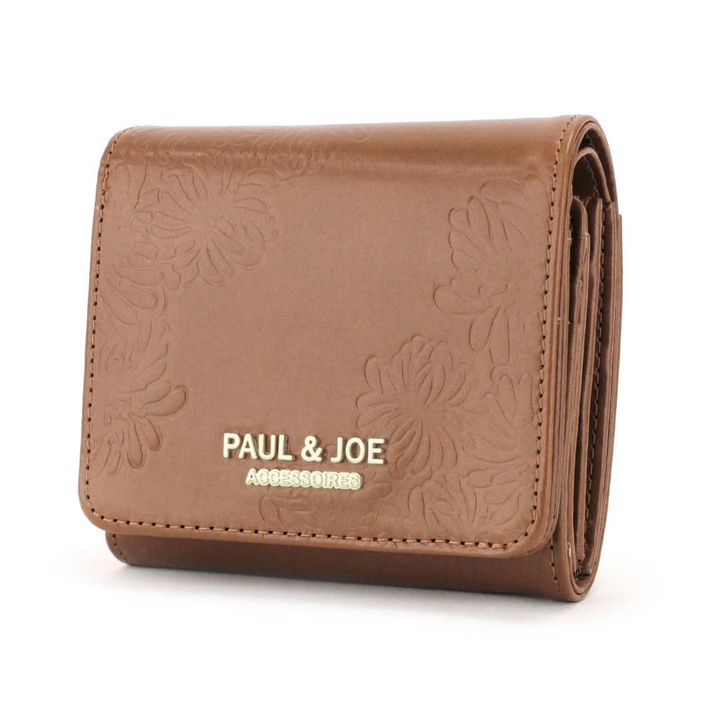 PAUL & JOE ACCESSOIRES (ポール&ジョーアクセソワ) 二つ折り財布 クリザンテーム・エンボス PJA-W083 ポールアンドジョー paulandjoe ポール&ジョーアクセソワ ポール&ジョーアクセソワ ギフト