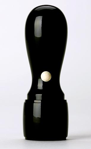 会社実印 役職印黒水牛(芯持極上) 〔18mm天丸型〕ケース付