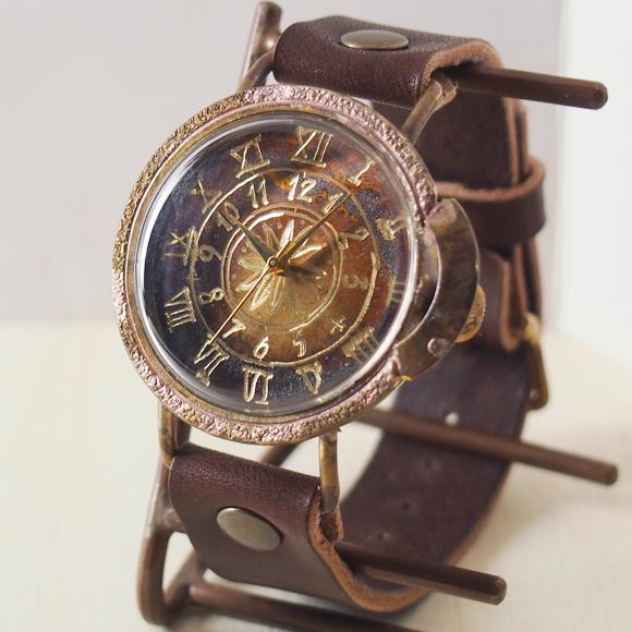 ipsilon(イプシロン) 手作り腕時計 compasso Jumbo(コンパッソ ジャンボ)[compasso-J] 時計作家・ヤマダヨウコさんのハンドメイドウォッチ・ハンドメイド腕時計 メンズ・レディース 本革ベルト アンティーク調 アナログ シンプル 日本製 国産
