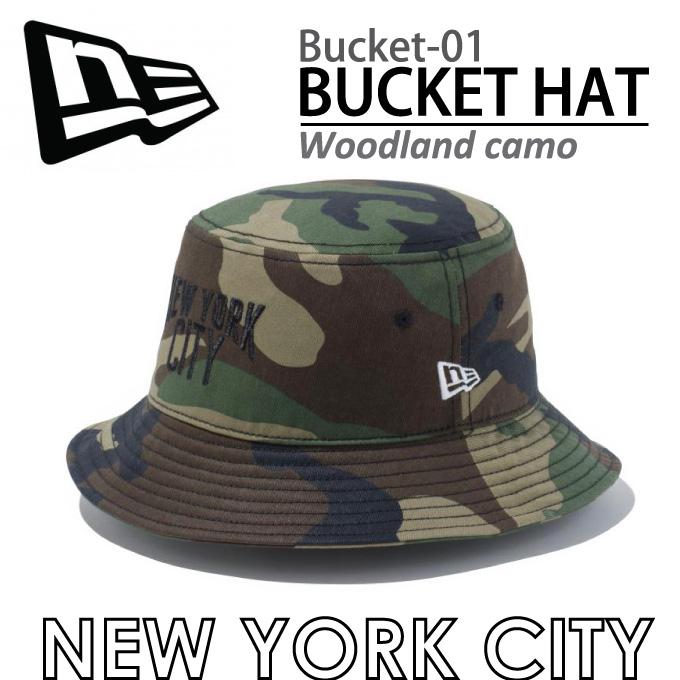 NEW ERA 뉴에 라 버켓 모자 BUCKET-01 NEW YORK CITY 모자 뉴에 라 버켓 BUCKET HAT BUCKET01 카 모 카 모 우드 랜드 오리 아웃 도어 남성용 여성용 큰 크기