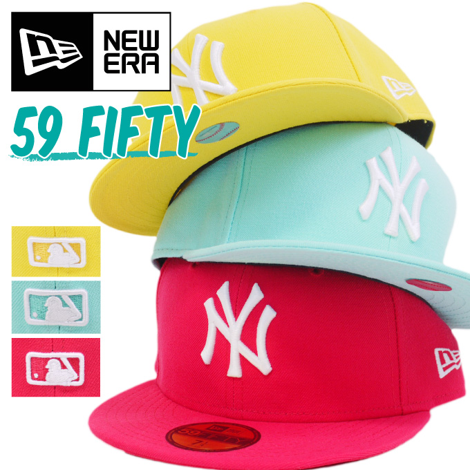 CRIMINAL  Large pastel vivid colors 59FIFTY NEW ERA NEWERA hats 2730aab6e82