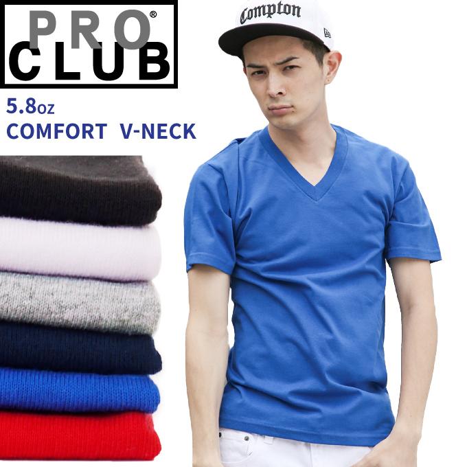 fe241c07 PRO CLUB Pro Club V neck solid color T shirt short sleeve M-2XL plain ...