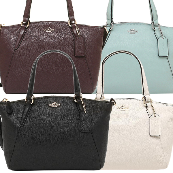 Coach Bag Outlet F57563 ぺ Bulldog Leather Mini Kelsey Satc Tote 2way Lady