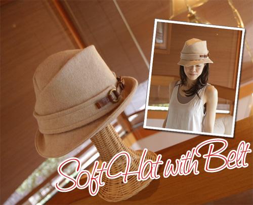 サイドベルト・ソフト帽(帽子)[La Luz Del Golla]【送料無料】【smtb-k】【w4】