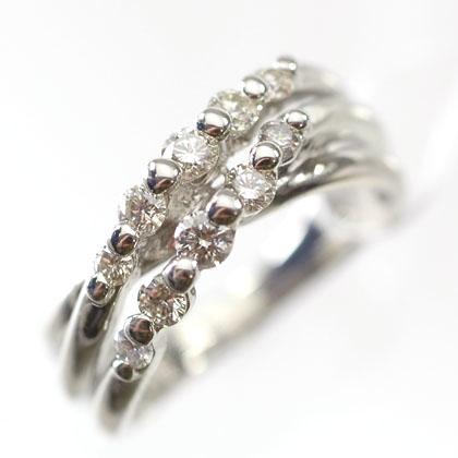 プラチナ ダイヤモンド リング スウィートテン プラチナ・ダイヤモンド0.5ct アニバーサリー10リング(指輪)【結婚10周年記念】【スウィート10石ダイヤモンド】 送料無料 ダイヤモンド指輪