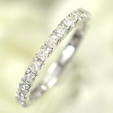 ダイヤモンド リング エタニティー K18WG・ダイヤ0.5ct エタニティーリング(指輪) ダイヤモンド指輪