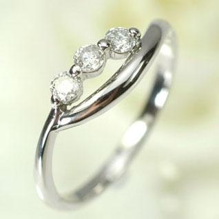 プラチナ ダイヤモンド リング スリーストーン プラチナ・ダイヤモンド0.2ct スリーストーンリング(指輪) ダイヤモンド指輪