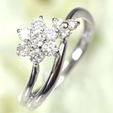 ダイヤモンド リング プラチナ・ダイヤモンド0.5ct アニバーサリー10リング(指輪)【結婚10周年記念】【スウィート10石ダイヤモンド】ダイヤモンド指輪