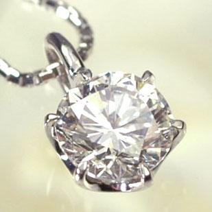 プラチナ ダイヤモンド ネックレス 一粒 プラチナ・ダイヤモンド0.7ct(Hカラー・SI・GOOD・鑑定書付) スタッドペンダント(ネックレス)