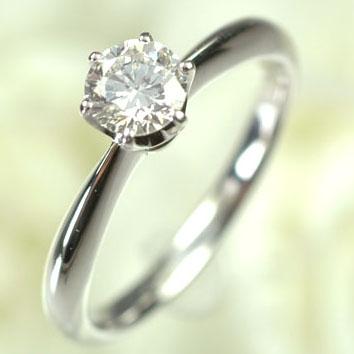 婚約指輪 プラチナ ダイヤモンド リング 一粒 プラチナ・ダイヤモンド0.5ct(Hカラー・SI・GOOD・鑑定書付) エンゲージリング(指輪) ダイヤモンド指輪