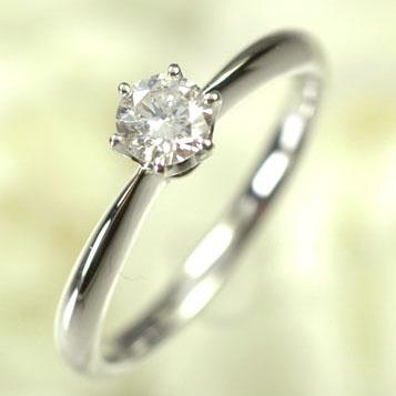 婚約指輪 プラチナ ダイヤモンド リング 一粒 プラチナ・ダイヤモンド0.3ct(Hカラー・SI・GOOD・鑑定書付) エンゲージリング(指輪) ダイヤモンド指輪