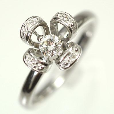 ダイヤモンド リング K18WG・ダイヤモンド0.2ct ムーヴリング(指輪) ダイヤモンド指輪