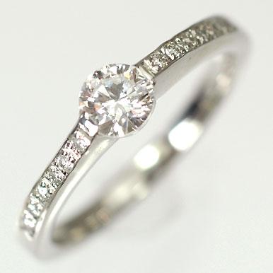 婚約指輪 プラチナ・ダイヤモンド0.3ct(F・VVS・3EX・H&C・鑑定書付) エンゲージリング(婚約指輪) 【プロポーズリング】