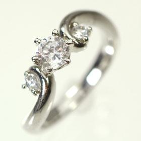 婚約指輪 プラチナ・ダイヤモンド0.3ct(F・VVS・3EX・H&C・鑑定書付) エンゲージリング(婚約指輪)