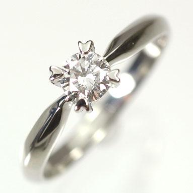 婚約指輪 プラチナ・ダイヤモンド0.3ct(D・VVS・3EX・H&C・鑑定書付) エンゲージリング(婚約指輪) 【プロポーズリング】