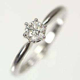 婚約指輪 プラチナ・ダイヤモンド0.3ct(Dカラー・VVS・3EX・H&C・鑑定書付) エンゲージリング(婚約指輪) 【プロポーズリング】