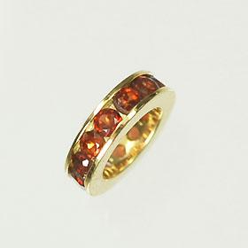 【1月の誕生石】K18・ガーネット 誕生石ベビーリング(指輪) エタニティータイプ 送料無料