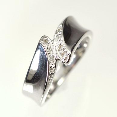 ダイヤモンド リング【ホワイトゴールドリング】K18WG・ダイヤモンド0.05ct ピンキーリング(指輪) ダイヤモンド指輪