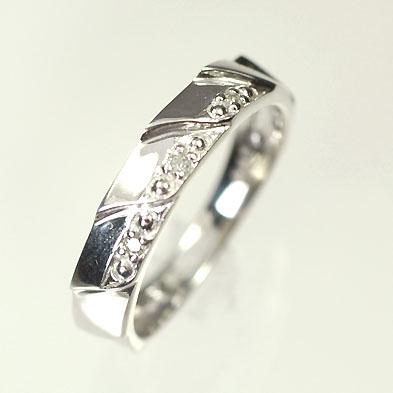 ダイヤモンド リング【ホワイトゴールドリング】K18WG・ダイヤモンド0.02ct ピンキーリング(指輪) ダイヤモンド指輪