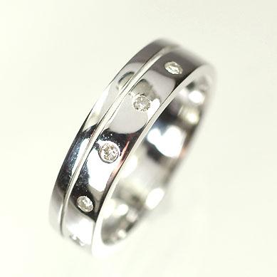 ダイヤモンド リング【ホワイトゴールドリング】K18WG・ダイヤモンド0.06ct ピンキーリング(指輪) ダイヤモンド指輪