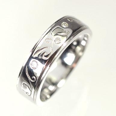 ダイヤモンド リング【ホワイトゴールドリング】K18WG・ダイヤモンド0.04ct ピンキーリング(指輪) ダイヤモンド指輪