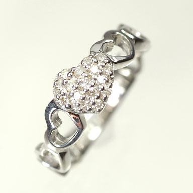 ダイヤモンド リング【ホワイトゴールドリング】K18WG・ダイヤモンド0.1ct ピンキーリング(指輪) ダイヤモンド指輪