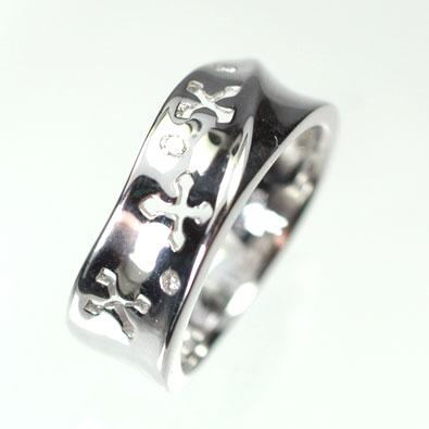ダイヤモンド リング【ホワイトゴールドリング】K18WG・ダイヤモンド0.03ct ピンキーリング(指輪) ダイヤモンド指輪