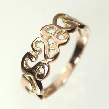 ピンクゴールド K10PG・地金 ピンキーリング(指輪) 送料無料 指輪