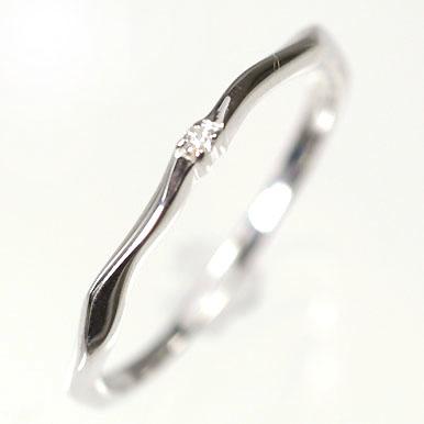 ダイヤモンド リングK10WG・ダイヤ0.01ct 重ね付け用リング(指輪) ダイヤモンド指輪