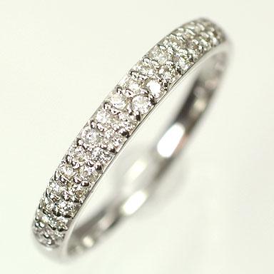 ダイヤモンド リングK18WG・ダイヤモンド0.2ct パヴェリング(指輪) ダイヤモンド指輪