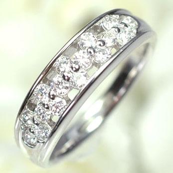 ダイヤモンド リングプラチナ・ダイヤモンド0.5ct(Hカラー・VSクラス・H&C・鑑別書付) シャインフラワーリング(指輪) ダイヤモンド指輪