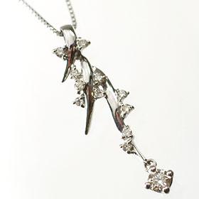 ダイヤモンド ネックレスプラチナ・ダイヤ0.2ct エレガントペンダント(ネックレス)