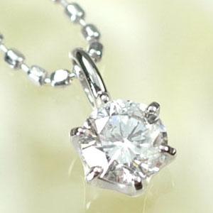 ダイヤモンド ネックレスプラチナ・ダイヤモンド0.2ct(Hカラー・I1・鑑定書付) スタッドペンダント(ネックレス)