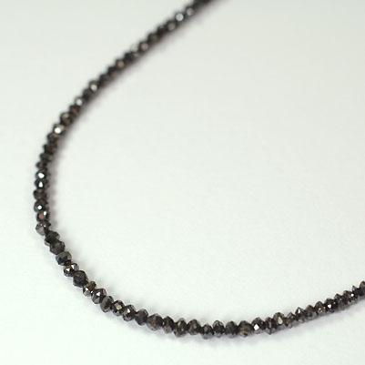 ブラックダイヤモンド ネックレス K18WG・ブラックダイヤモンド10.0ct(ミドルグレード)ネックレス