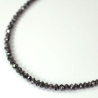 ブラックダイヤモンド ネックレス K18WG・ブラックダイヤモンド20ct (ミドルグレード)ネックレス