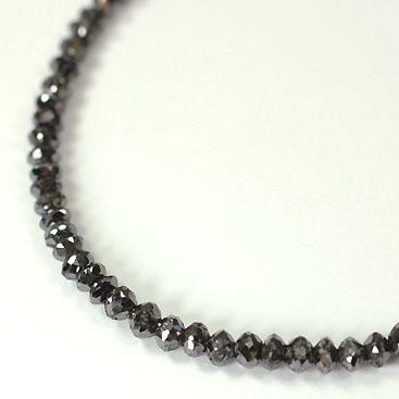 ブラックダイヤモンド ネックレス K18WG・ブラックダイヤモンド30ct(ミドルグレード) ネックレス