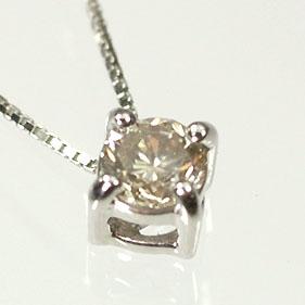 ダイヤモンド ネックレス プラチナ・ダイヤモンド0.2ct ツーステップペンダント(ネックレス)