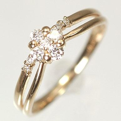 ダイヤモンド リング K18PG・ダイヤ0 2ct SIクラス・鑑別書カード付フラワーリング 指輪送料無料0N8wmnvyO